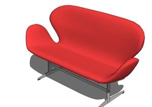 现代风格沙发躺椅组合SU(草图大师)模型