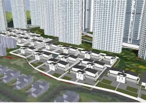 烟台万科天越湾建筑概念设计方案SU亿博网络平台(附PPT方案文本 CAD总平面图与户型图)