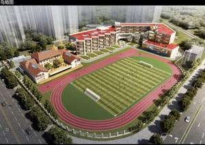 武汉新河街学校建筑规划概念设计方案