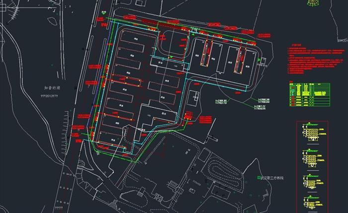 武汉火神山+雷神山医院全套建筑CAD施工图纸(电气+给排水+暖通+结构)(4)