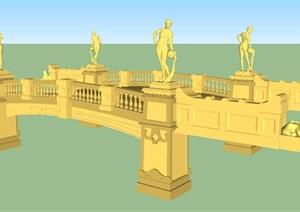 欧式景观桥建筑方案SU(草图大师)模型