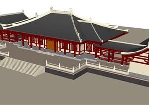 汉式大殿建筑方案SU(草图大师)模型