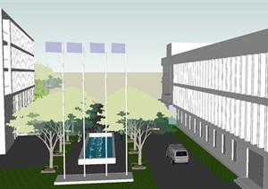 高新产业园区建筑方案SU(草图大师)模型