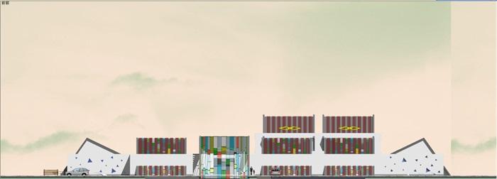 藏式幼儿园建筑方案SU模型(11)