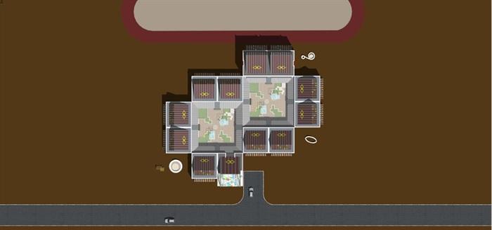 藏式幼儿园建筑方案SU模型(13)