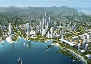 深圳前海城市规划设计方案PDF高清文本(附规划SU(草图大师)模型)
