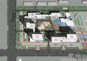 东营黄蓝时代国际金融港建筑方案SU(草图大师)模型