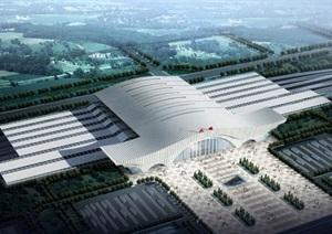 6个大连火车站建筑概念设计方案SU(草图大师)模型