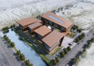 现代风格办公楼建筑概念设计方案SU亿博网络平台