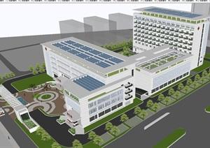 福州东南妇幼保健院建筑设计方案SU(草图大师)模型