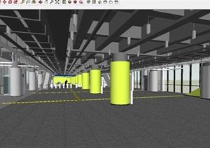 上海轻轨三号线虹桥路站建筑设计方案SU(草图大师)模型