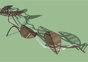 现代异形景观廊架SU(草图大师)模型