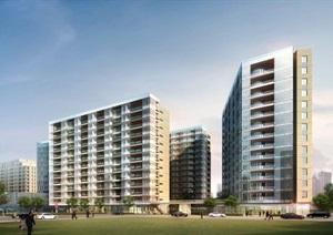 杨浦区创智公寓式办公+酒店项目建筑设计方案SU(草图大师)模型(附CAD单体平立剖+PDF方案文本)