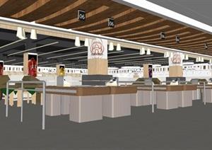 超市商场室内装潢设计方案SU(草图大师)模型