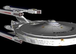 3个科幻宇宙太空飞船SU(草图大师)模型