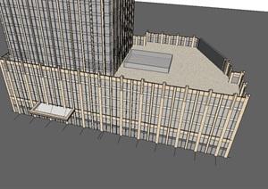 超高层酒店建筑设计方案SU(草图大师)模型