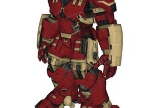 复仇者联盟反浩克游戏人物SU(草图大师)模型