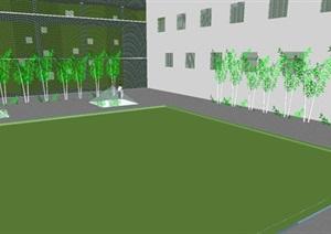 现代风格教学楼建筑设计方案SU(草图大师)模型
