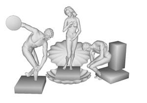 4个欧式人物雕塑SU(草图大师)模型