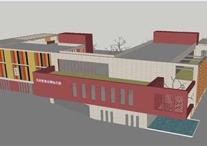 天府世家幼儿园建筑设计方案SU(草图大师)模型