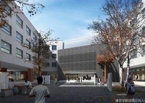 东北大学浑南校区建筑馆建筑设计方案SU(草图大师)模型