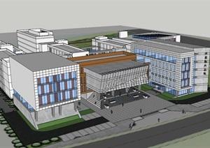 36班南郊中学建筑设计方案SU(草图大师)模型