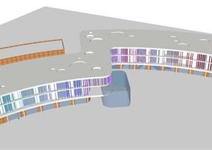 社区幼儿园建筑设计方案SU(草图大师)模型