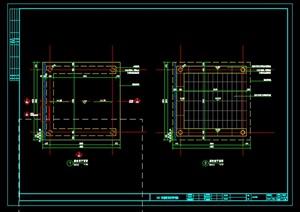 中式廊架小品设计施工图