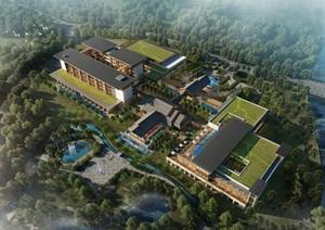 广东阳春国际温泉养生度假村温泉综合楼规划建筑设计方案