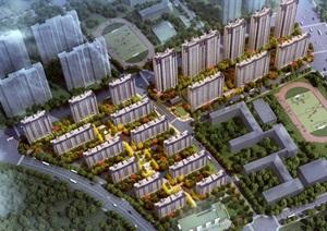 山东济南华山东片区中海9地块项目建筑规划设计方案(附CAD总平面图与高层户型图)
