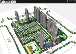 融信杭州良渚新城地块项目概念规划设计方案(附CAD总平面图与别墅与高层户型图)