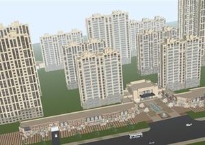 路劲城市中央HX-060616地块项目建设设计方案(附单体CAD平立剖与总平面)