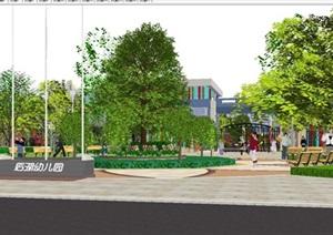 后湖幼儿园建筑与景观设计方案SU(草图大师)模型