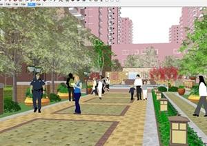 现代小区建筑与景观设计方案SU(草图大师)模型