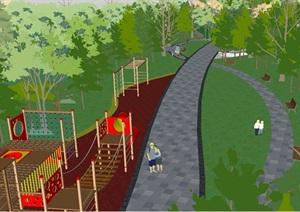 彩虹公园景观设计方案SU(草图大师)模型