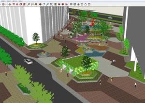商业广场景观设计方案SU(草图大师)模型