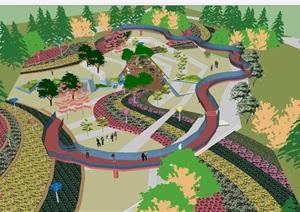 江苏花博会展园景观设计方案SU(草图大师)模型