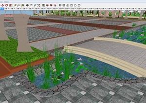 办公中心中庭景观设计方案SU(草图大师)模型