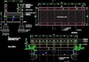 精品園林景觀木橋CAD施工圖(含結構配筋)