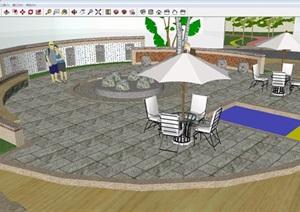 六井孔商業街景觀設計方案SU(草圖大師)模型