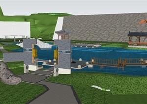 白马社区公园景观设计方案SU(草图大师)模型