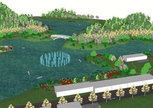 城市湿地公园景观设计方案SU(草图大师)模型