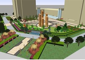 永固商业广场景观设计方案SU(草图大师)模型