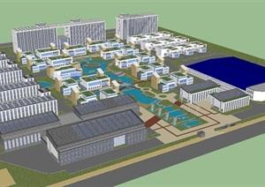 苏州电子技术产业园建筑设计方案SU(草图大师)模型