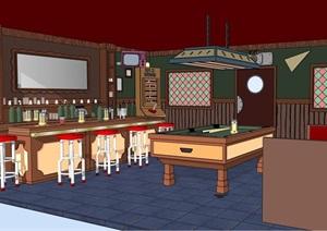餐饮室内家装空间SU(草图大师)模型