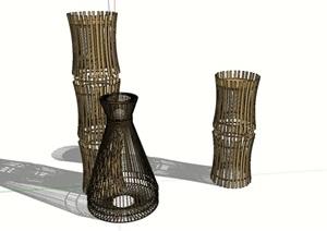 竹、稻元素草坪燈(竹韻、秋收)