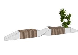 現代景觀座椅 廣場景觀座椅SU(草圖大師)模型