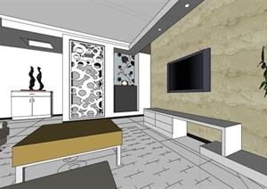 住宅家装室内装饰SU(草图大师)模型