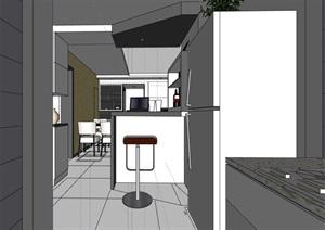 现代完整的住宅家装室内装饰SU(草图大师)模型