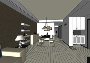 精致住宅家装室内装饰SU(草图大师)模型